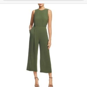 Michael Kors Green Belted Jumpsuit